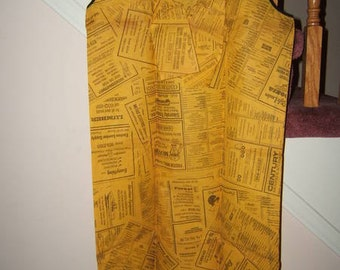 Vintage 1960's Yellow pages paper dress with original instruction and envelope