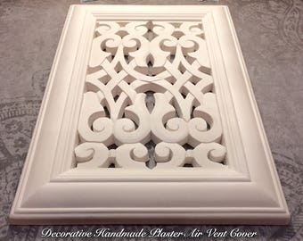Ornate Victorian Plaster Air Vent Cover