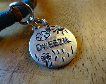 Hand-Stamped Pet ID Tag (Sunny Day)
