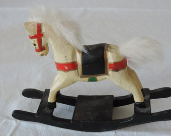 very old rocking horse for the little boy in you dollhouse 1:12 scale