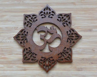 OHM - Wall Decor- Wood - Walnut Brown