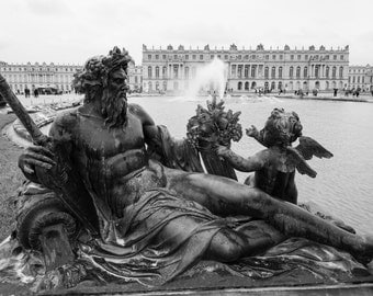 Versailles Photography, Sculpture, Versailles France Print, Black and White, French Home Decor, Versailles Print, Fine Art Photography