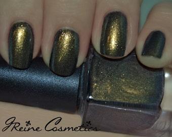 Magical Moss - Green Gold Multichrome Color Shifting Nail Polish
