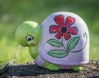 Flirty Pink Turtle