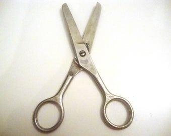 Vintage Soviet medical surgical scissors from the Soviet era hospital, the scissors of the Soviet era