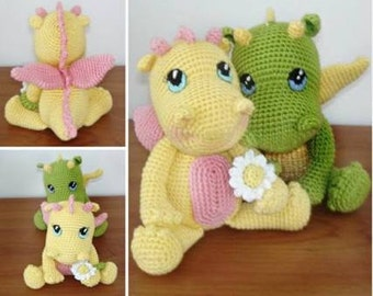 Twinkle the Magical Dragon - Handmade Crochet