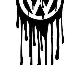 "VW logo, ""Paintwork"" decal car sticker, fun, premium quality! (20x8cm) black"