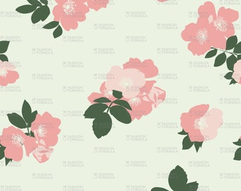 Wild Roses Fabric by ZoeCharlotte