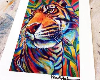 Colorful Bengal Tiger Art Print
