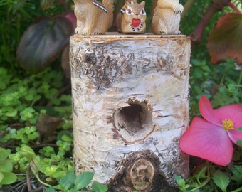 Mini Chipmunks, Fairy Garden Accessory, Garden Decor, Miniature Gardening, Terrarium