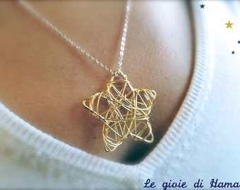 Wire Star necklace-DESIRE