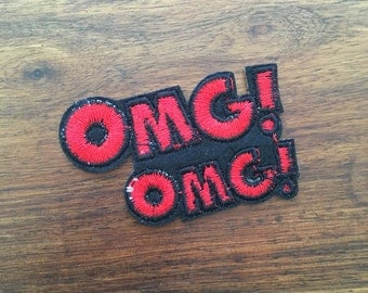 OMG! - Iron on Appliqué Patch