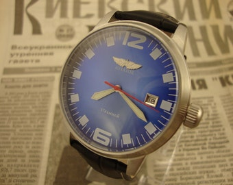 Poljot watch, Aviator watch, vintage watch, mens watch, military watch, ussr watch, soviet watch, russian watch, watch military