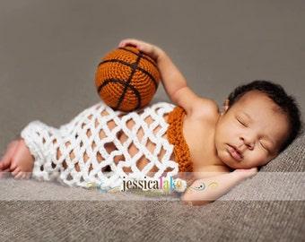 Newborn Baby  Basketball, Basketball Net, Photography Prop, Custom Made to Order