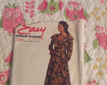 McCalls Stitch and Save 7390 Sizes 16-22