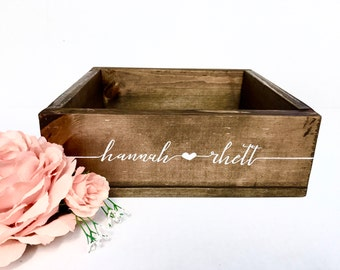 Wedding Card Box - Custom Rustic Wedding Decor - Wooden Card Box