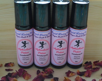 Aphrodisiac Potion, Roll-On Aromatherapy Oil, 10ml glass bottle, Vegan