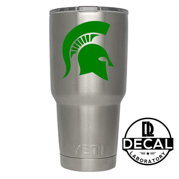 Yeti Decal Sticker - Michigan State Spartans Decal Sticker For Yeti RTIC Rambler Tumbler Coldster Beer Mug