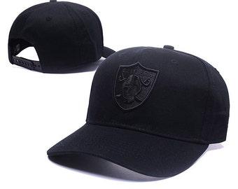 Monochrome Oakland Raiders Baseball Cap