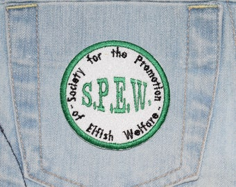 S.P.E.W. House Elf, Harry Potter inspired Iron-on Embroidered Patch