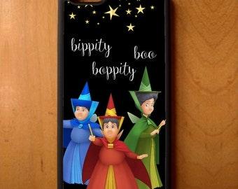 Disney Sleeping Beauty Bippity Boppity Boo Phone Case Samsung Galaxy S6 S7 S8 Note Edge Apple iPhone 4 5 5S 5C 6 6S 7 SE Plus + G3 skin snap
