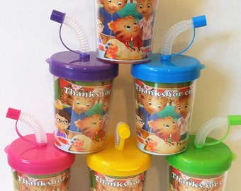 Daniel the Tiger Party Favor Cups, Daniel Tiger Birthday Party Personalized Treat Cups Set of 6