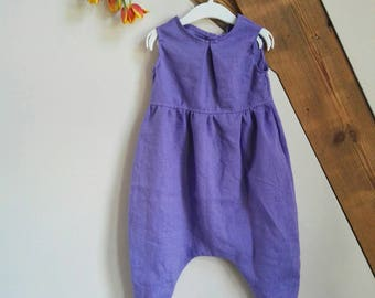 Jumpsuit made of organic linen