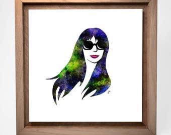 Janice | 12 x 12 Square | Pop Art Minimalist | Mounted Fine Art Print