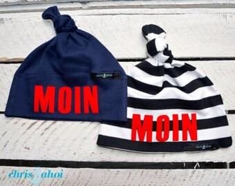 """Baby node caps/baby hat """"Moin"""""""