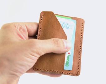 Minimalist Wallet Leather Slim Card Holder, Minimal Wallet, Leather Card Holder, Slim Wallet, Front Pocket Wallet Leather Card Wallet
