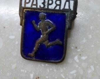 Pin  Enamel Vintage Soviet Brooch