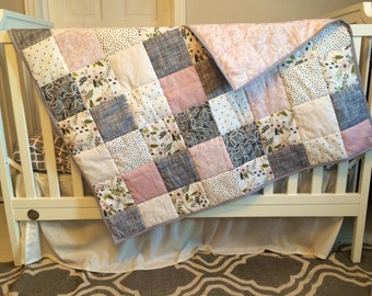 Apple Blossom Whole Cloth Quilt