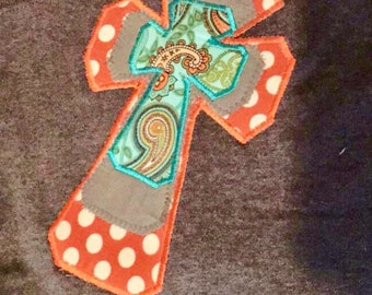 Large cross applique etsy for Applique shirts for sale
