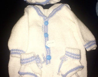 Baby Boys Sailor Suit (Knitted)