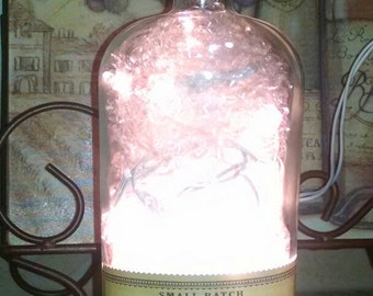 Bullet rye bottle lamp