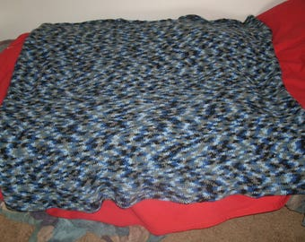 Large Custom Crochet Blanket 43 inches long by 44 inches wide