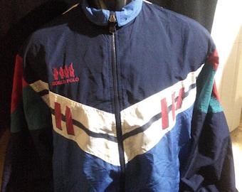 Vintage World Polo Winbreaker World Polo Color Block Jacket