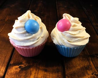 Cotton Candy Cold Process Soap Cupcake