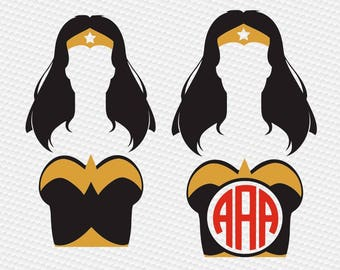 Wonder girl SVG Clipart Cut Files Silhouette Cameo Svg for Cricut and Vinyl File cutting Digital cuts file DXF Png Pdf Eps vector clip art