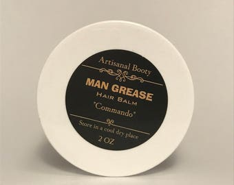 Natural Hair Styling   Man Grease - Commando Hair Balm   Hair Care    Natural Hair Products   Hair Balm   Hair Product for Men