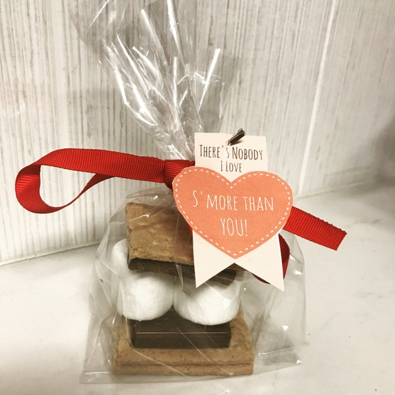 Valentines Day S'Mores Chocolate Gift Bag - Chocolate marshmallow cookie