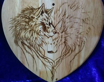Wolves serving / cutting board