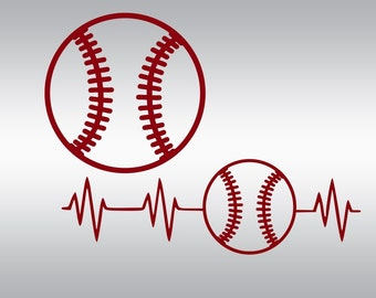 Baseball svg, Baseball mom svg, Baseball mama svg, Baseball team svg, Softball svg, Heartbeat, Cricut, Cameo, Clipart, Svg, DXF, Png, Eps