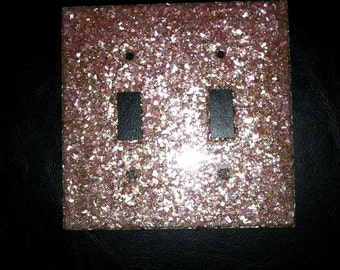 Sparkle lucite vintage 50's pink light switch cover