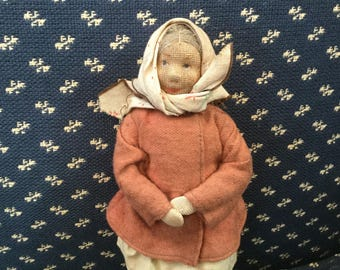 Vintage Russian Doll Kiazan Village Cloth Doll