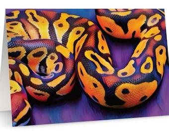Snake Art Card