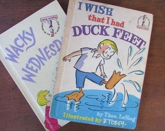 Wacky Wednesday And I Wish That I Had Duck Feet Theo LeSieg Beginner Books