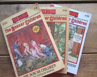 The Boxcar Children Young Adult Fiction Book Set Gertrude Chandler Warner 1977 # 1 #14 #22