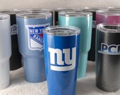 Custom Powder Coated 20oz & 30oz YETI Tumblers - FREE SHIPPING! Many colors to choose from. Decal Optional.