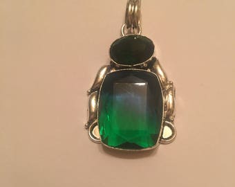 30cts of Beautiful Green Tourmaline Pendent